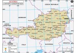 Austria Latitude and Longitude Map