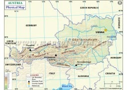 Physical Map ofAustria - Digital File