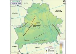 Belarus Physical Map - Digital File