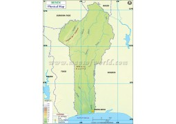 Benin Physical Map - Digital File