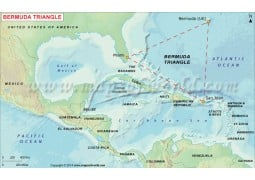 Map of Bermuda Triangle - Digital File