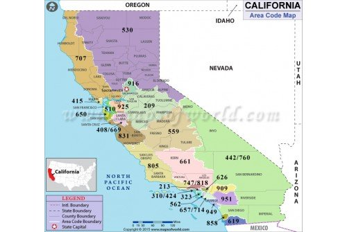 California Area Code Map