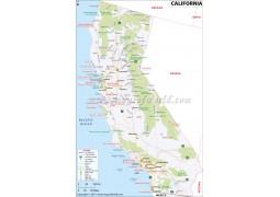Map of California - Digital File