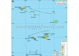 Cape Verde Physical Map - Digital File