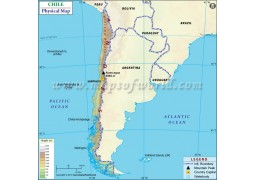 Chile Physical Map - Digital File