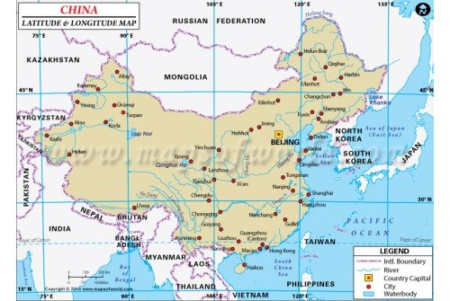 Buy China Latitude And Longitude Map - Argentina map with latitude and longitude