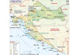 Croatia Map - Digital File