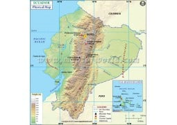 Ecuador Physical Map - Digital File