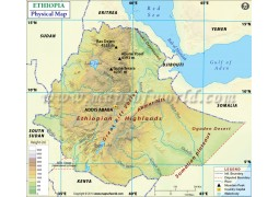 Ethiopia Physical Map - Digital File