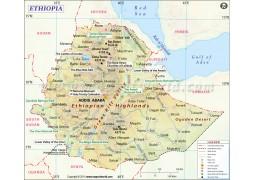 Ethiopia Map - Digital File