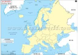 Europe Outline Map  - Digital File