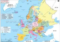 Political Map of Europe - Digital File