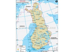 Finland Latitude and Longitude Map - Digital File