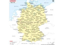 Map of Germany with Cities - Digital File