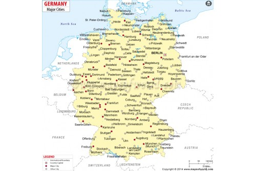Buy Germany Cities Map - Germany map main cities