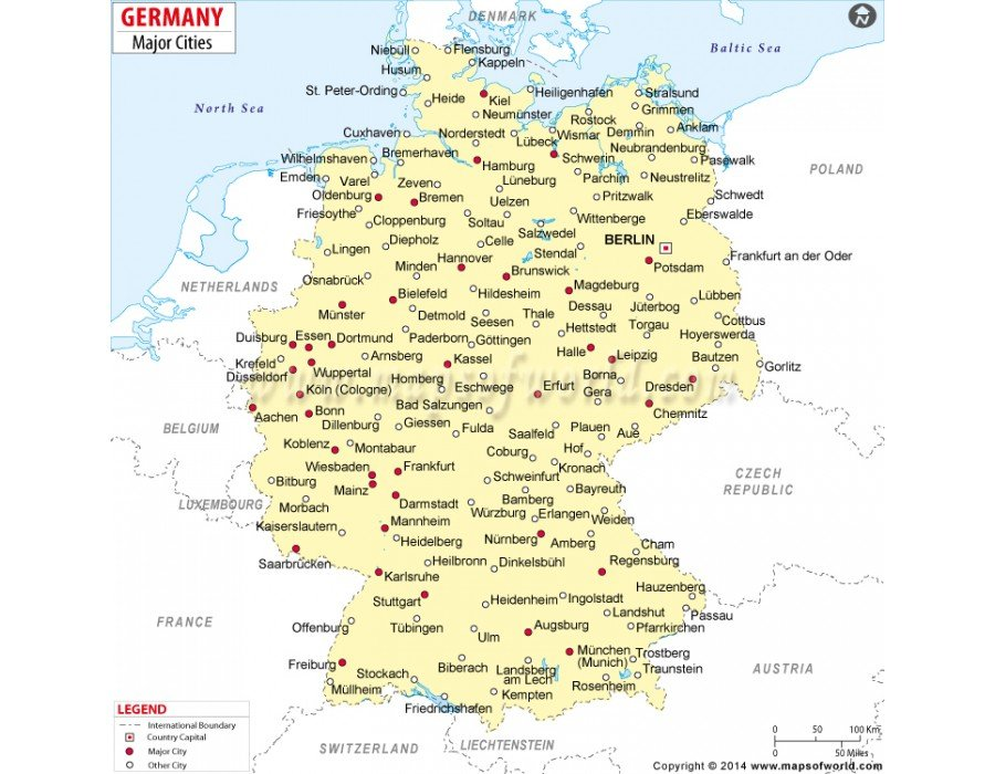 Buy Germany Cities Map