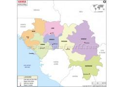 Guinea Political Map - Digital File