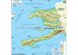Haiti Physical Map - Digital File