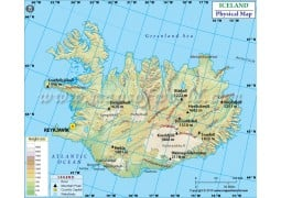 Iceland Physical Map - Digital File