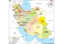 Iran Political Map  - Digital File