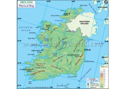 Ireland Physical Map - Digital File