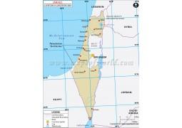 Israel Latitude and Longitude Map - Digital File