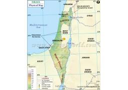 Israel Physical Map - Digital File