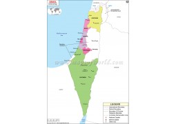Israel Political Map - Digital File