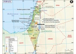 Israel Map - Digital File