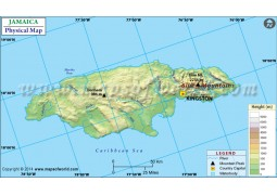 Jamaica Physical Map - Digital File