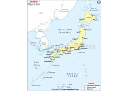 Japan Cities Map