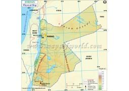 Jordan Physical Map - Digital File