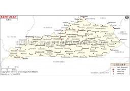 Kentucky Cities Map - Digital File