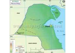 Kuwait Physical Map - Digital File
