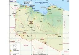 Libya Map - Digital File