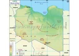 Libya Physical Map - Digital File