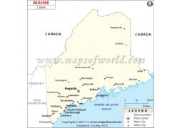 Map of Maine Cities - Digital File
