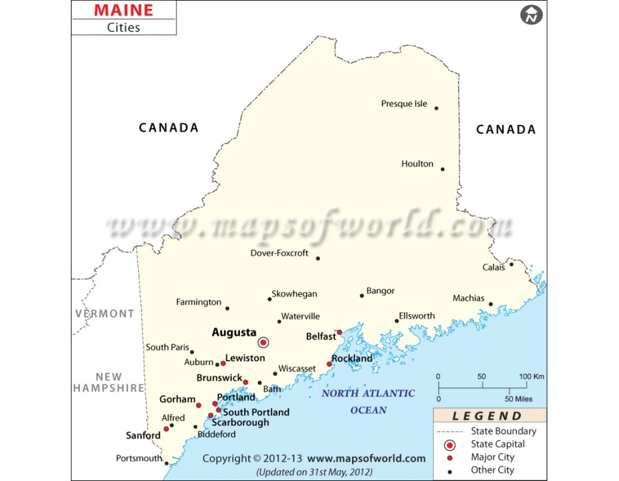 city map of maine Buy Map Of Maine Cities city map of maine