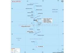 Maldives Map - Digital File