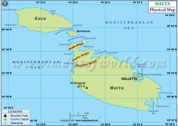 Malta Physical Map - Digital File