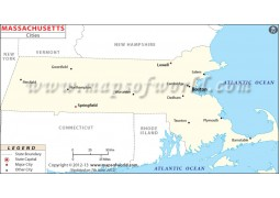 Map of Massachusetts Cities - Digital File