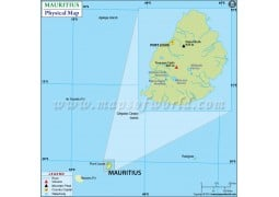 Mauritius Physical Map