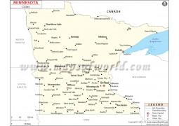Minnesota Cities Map - Digital File