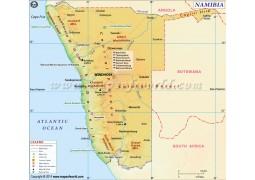 Namibia Map - Digital File