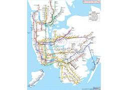 New York City Subway Map - Digital File