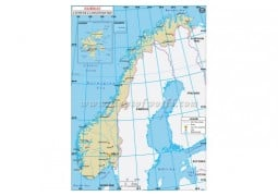 Norway Latitude and Longitude Map - Digital File