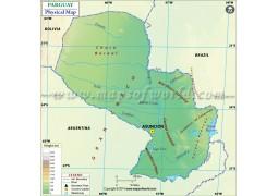 Paraguay Physical Map - Digital File