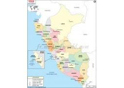 Peru French Map - Digital File