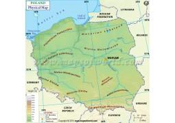 Poland Physical Map - Digital File