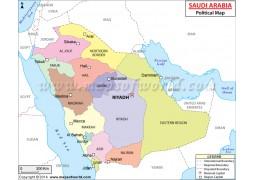 Saudi Arabia Political Map - Digital File